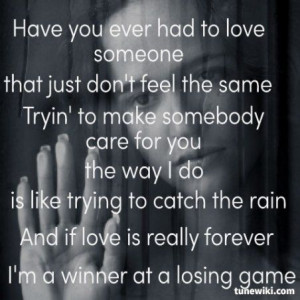 Winner At A Losing Game ~ Rascal Flatts