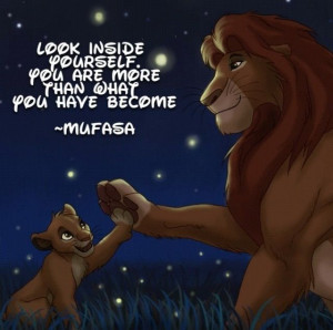 ... Day 24 favorite parent... Mufasa! He sacrificed himself for his son