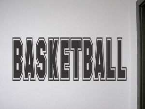 Details about BASKETBALL Vinyl Wall QUOTE Decal Sign Room Home Decor ...