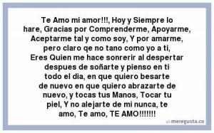 Te Amo mi amor!!!, Hoy y Siempre lo hare, Gracias por Comprenderme ...