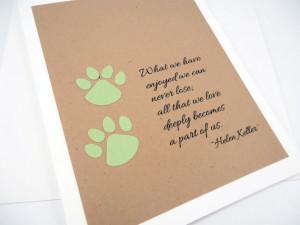 of Pet, Helen Keller Quote, Pet Condolence, Dog Sympathy, Cat Sympathy ...