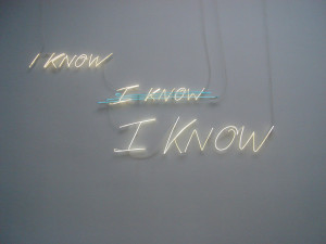 Tracey Emin I know 2