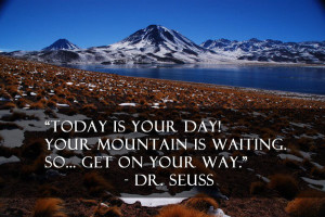 Dr seuss mountain quote