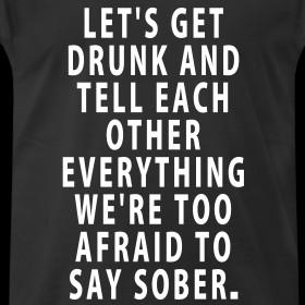 Design ~ Let's Get Drunk - Quote Men's T-Shirt (standard)