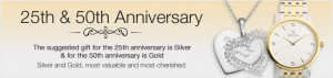 ... product occasions anniversary 25th 50th anniversary gifts