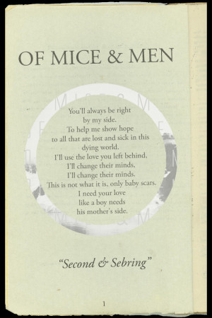 quote hipster lyrics vintage indie book of mice & men Reading of mice ...