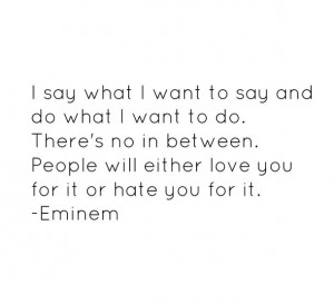 eminem, hate, haters, haters gonna hate, love, music, people, quotes