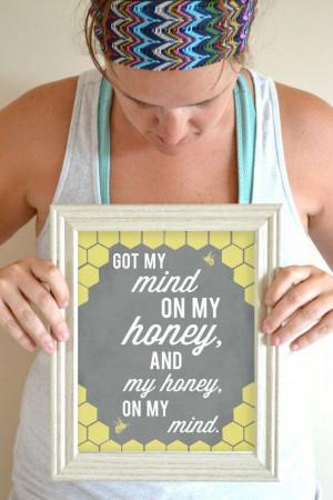 Funny Kitchen Art Print Honey Quote Food Art by SmartyPantsStudio, $18 ...