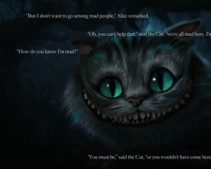 cats alice in wonderland quotes cheshire cat 1920x1200 wallpaper Art ...