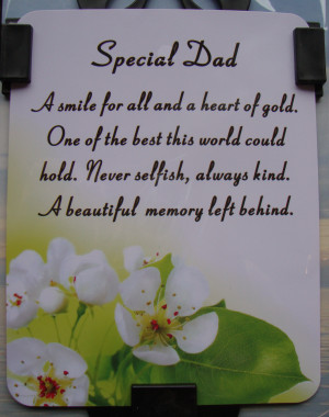 memorials dad memorial verses for dad waterproof graveside card dad
