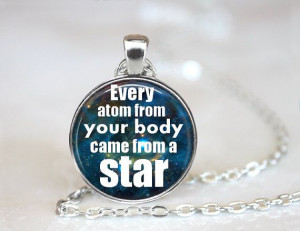 Atom Star Geekery Quote Necklace (ZM145-11)
