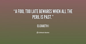 Too Late Quotes