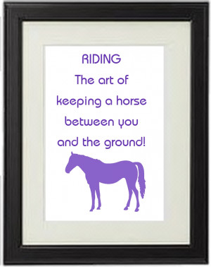 A5 Personalised Horse Breed Papercut Quote The Art of Riding