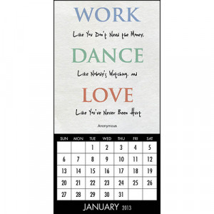 ... Obsolete >Inspirational Quote 2013 Mini Magnetic Mount Wall Calendar