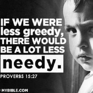 Greedy people suck
