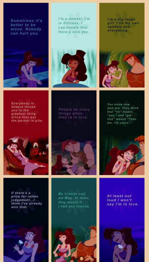 , Megara Quotes, Hercules Disney Meg Quotes, Disney Hercules Quotes ...