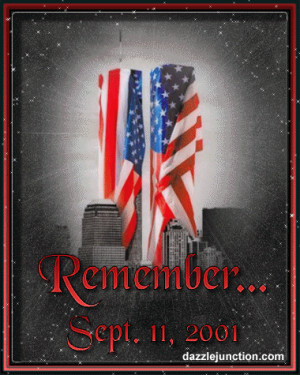 Patriot Day Flag Towers Remember quote