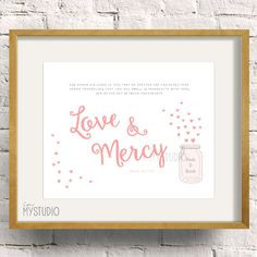 Islamic Wedding Love & Mercy quote, Anniversary Gift Personalized Name ...