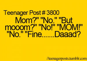 dad, funny, mom, mum, parents, phrases, quotes, saying, true
