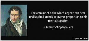 The amount of noise which anyone can bear undisturbed stands in ...