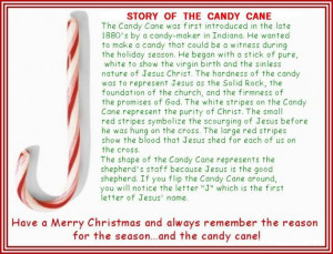 Story Of The Candy Cane Image