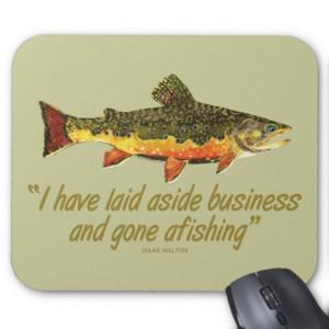 Izaak Walton Fishing Quote Mousemats