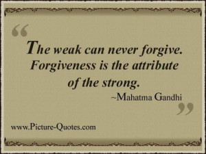try to be strong and forgive