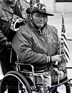 Disabled Vietnam Veteran in Wheelchair. Photographer A. Gurmankin More