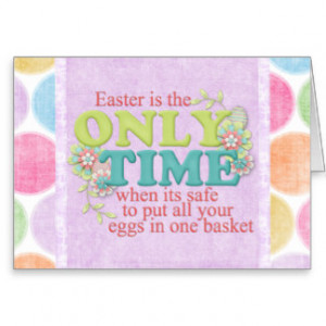 Eggs in one Basket Easter Card