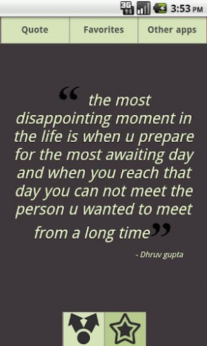 View bigger - Quotes about Disappointment for Android screenshot