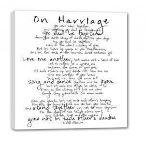 marriage quote vows on canvas