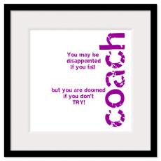 If you don't TRY - purple Framed Print