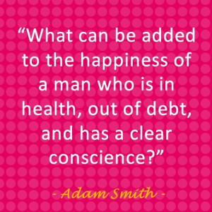 Adam smith, quotes, sayings, man, happiness