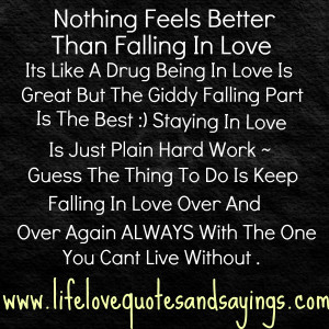 Nothing Feels Better Than Falling In Love ~ Being In Love Quote