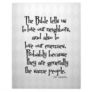 Funny Christian Religious Quote Chesterton Plaque