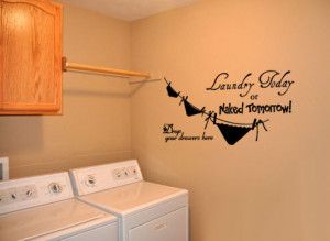 Laundry Room 4 - Vinyl Wall Quote Decal