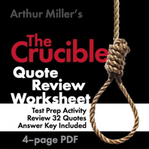 Arthur Miller's The Crucible Quote Race – Great End-of-Unit Game