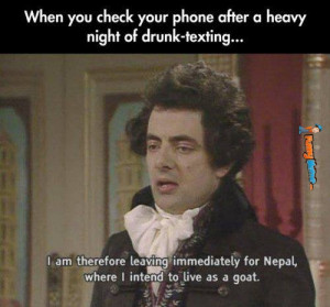 Funny Memes – When you check your phone after drunk texting
