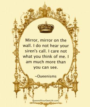 Mirror, Mirror…