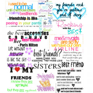BFF QUOTES! - Polyvore