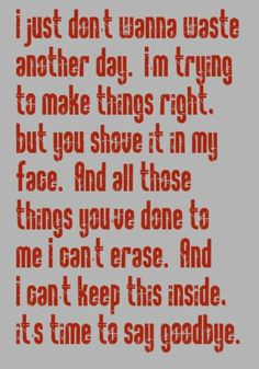 Simple Plan - Time To Say Goodbye - song lyrics, music lyrics, song ...
