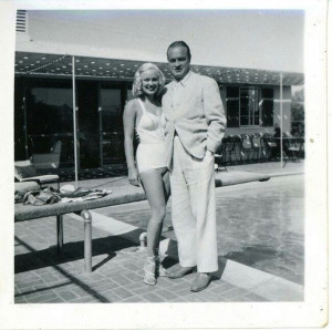 Mamie Van Doren with Palm Springs resident and entertainer Bob Hope