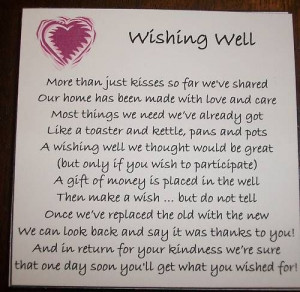 Wishing Well Cards *MADE TO ORDER* wedding invitation