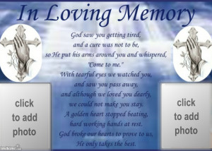 in loving memory poems for dad