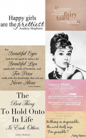 Audreyhepburn Quotes Quotes Sayings Senior Quotes Happy Girls