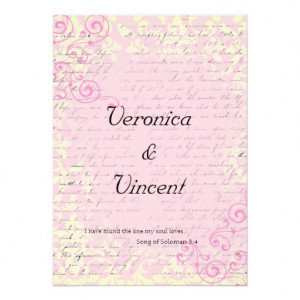 Vintage Romantic with Bible Verse Wedding Custom Invite from Zazzle ...