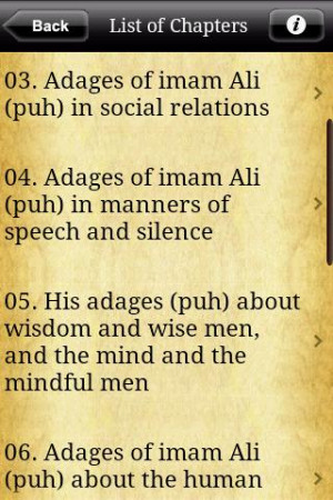 of imam ali by imam ali the book categorizes the adages and sayings ...