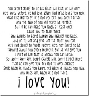 love you quotes and sayings for him myspace