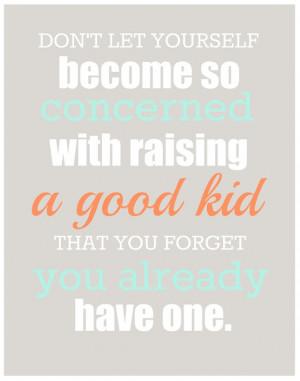 Printable: Raising A Good Kid