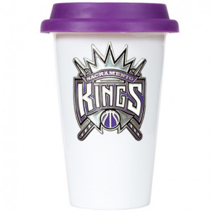 Sacramento Kings 12 oz. Double Wall Tumbler with Purple Silicone Lid ...